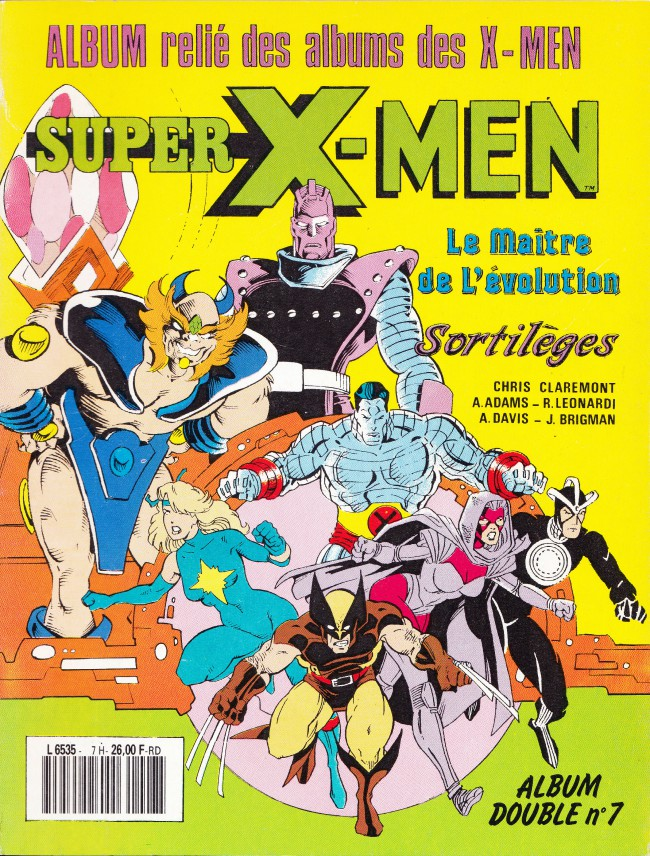 Couverture de X-Men (Les étranges) -Rec07- Album double N°7