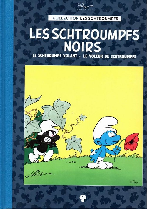 Couverture de Les schtroumpfs - La collection (Hachette) -1- Les Schtroumpfs noirs