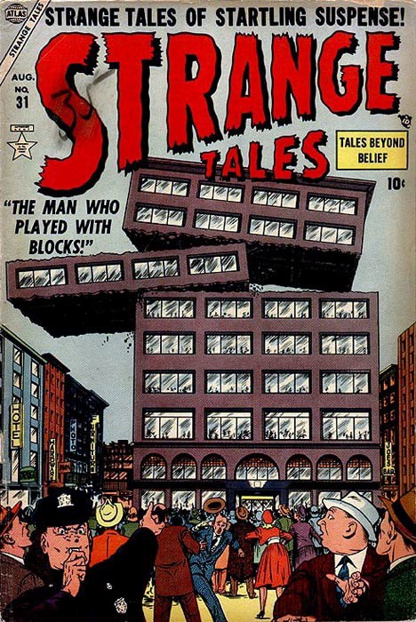 Couverture de Strange Tales (1951) -31- The Man Who Played With Blocks!