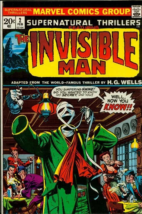 Couverture de Supernatural Thrillers (Marvel - 1972) -2- The Invisible Man