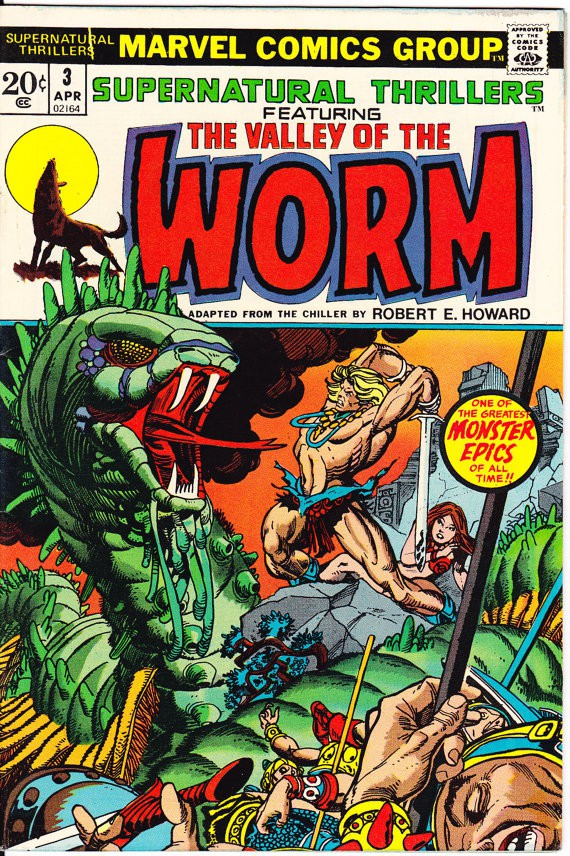Couverture de Supernatural Thrillers (Marvel - 1972) -3- The Valley of the Worm!
