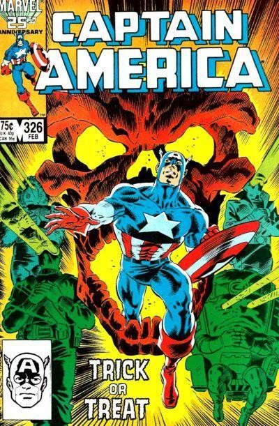 Couverture de Captain America (Marvel comics - 1968) -326- The Haunting of Skull-House