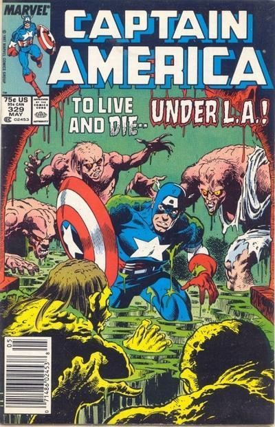 Couverture de Captain America (Marvel comics - 1968) -329- Movers and Monsters