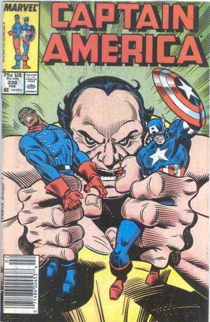 Couverture de Captain America (Marvel comics - 1968) -338- Power Struggle