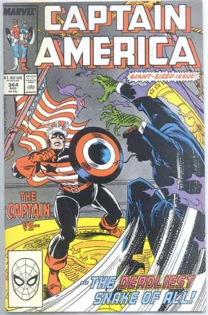 Couverture de Captain America (Marvel comics - 1968) -344- Don't Tread On Me!