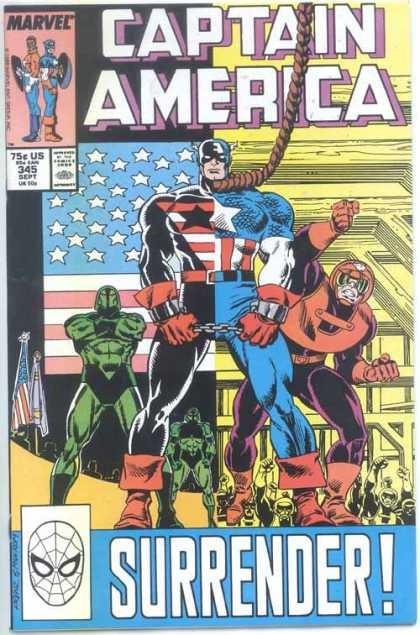 Couverture de Captain America (Marvel comics - 1968) -345- Surrender