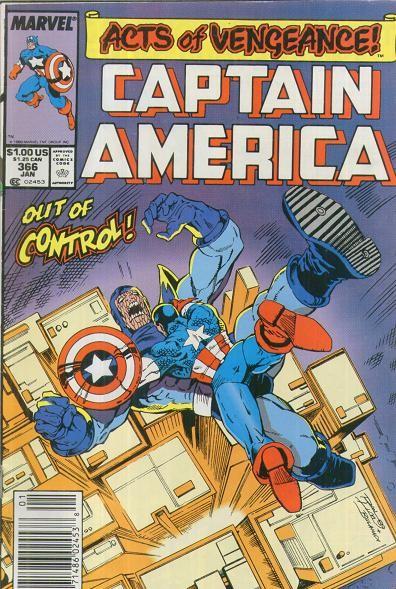 Couverture de Captain America (Marvel comics - 1968) -366- Out of Control