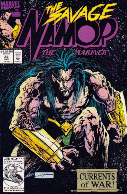 Couverture de Namor, The Sub-Mariner (Marvel - 1990) -34- Call From Home