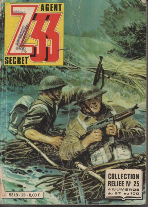 Couverture de Z33 agent secret -Rec25- Collection reliée N°25 (du n°97 au n°100)