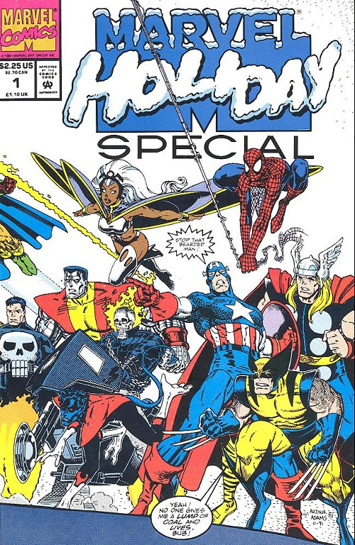 Couverture de Marvel Holiday Special (1991) -1- Marvel Holidays Special 1991