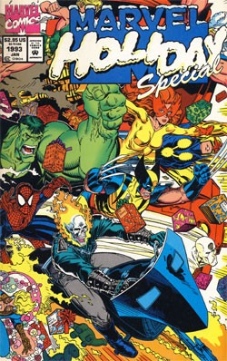 Couverture de Marvel Holiday Special (1991) -2- Marvel Holidays Special 1992