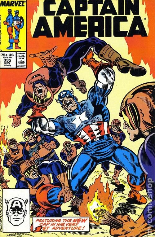 Couverture de Captain America (1968) -335- Baptism of Fire