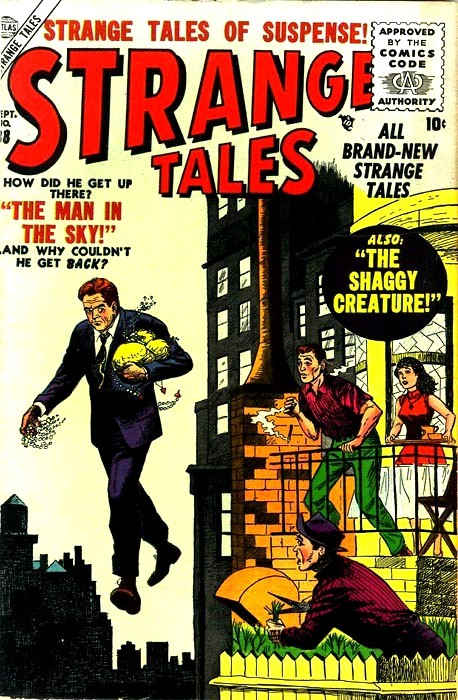 Couverture de Strange Tales (Marvel - 1951) -38- The Man In the Sky
