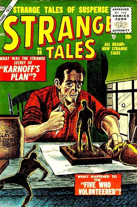 Couverture de Strange Tales (1951) -39- Karnoff's Plan
