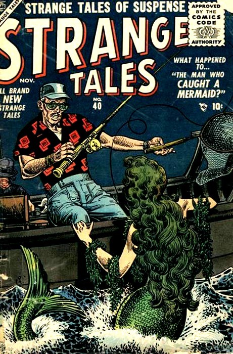 Couverture de Strange Tales (Marvel - 1951) -40- The Man Who Caught a Mermaid