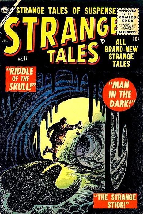 Couverture de Strange Tales (Marvel - 1951) -41- Man In the Dark