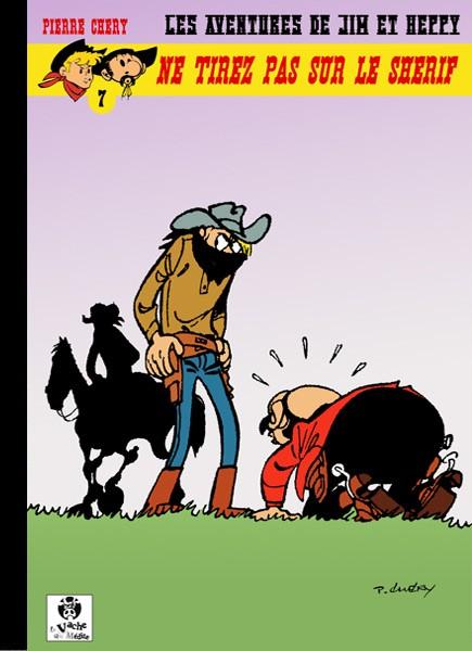 Couverture de Jim L'astucieux (Les aventures de) - Jim Aydumien -7- Ne tirez pas sur le shérif