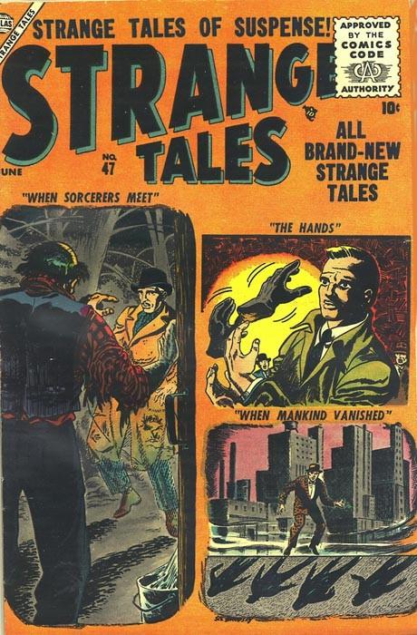 Couverture de Strange Tales (Marvel - 1951) -47- When Sorcerers Meet