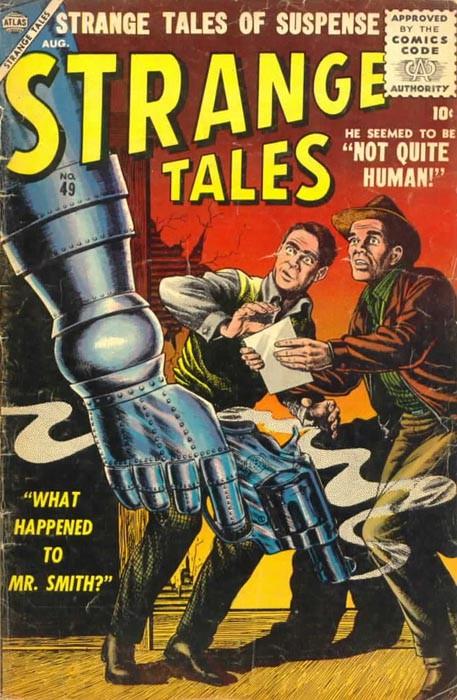 Couverture de Strange Tales (1951) -49- Not Quite Human