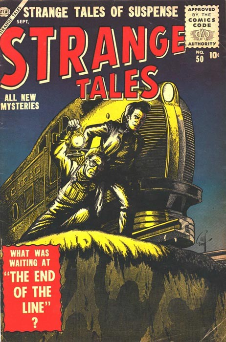 Couverture de Strange Tales (Marvel - 1951) -50- The End of the Line