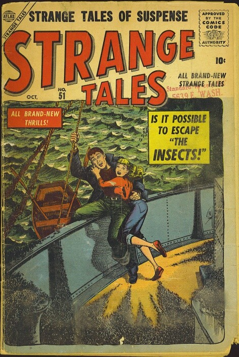 Couverture de Strange Tales (1951) -51- The Insects!