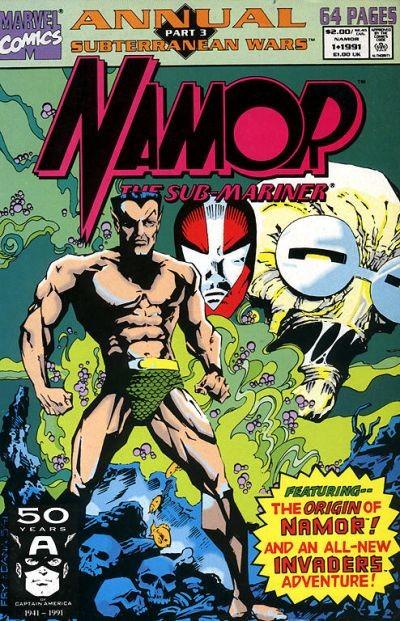 Couverture de Namor, The Sub-Mariner (Marvel - 1990) -AN01- Subterranean Wars Part 3