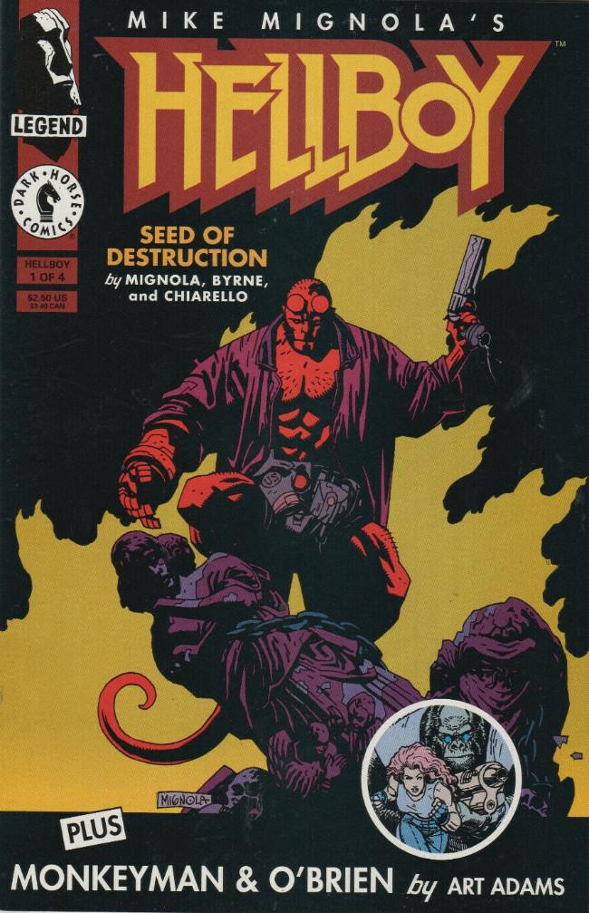 Couverture de Hellboy (1994) -1- Seed of Destruction Part 1