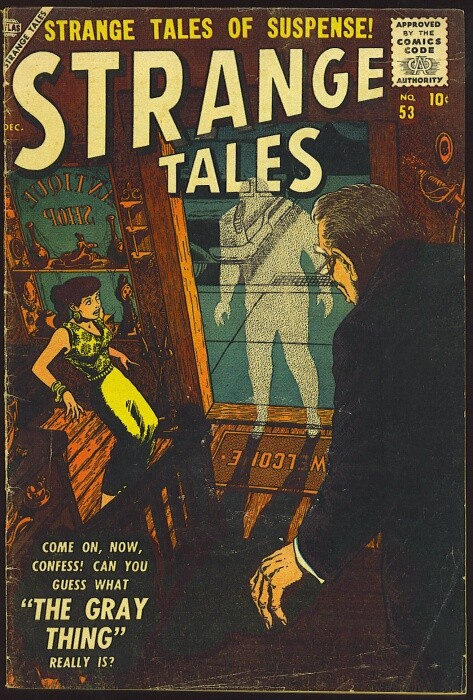 Couverture de Strange Tales (1951) -53- The Gray Thing!