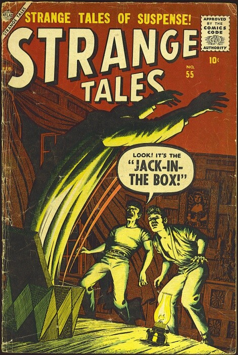 Couverture de Strange Tales (Marvel - 1951) -55- The Jack-In-The-Box!
