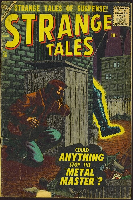 Couverture de Strange Tales (Marvel - 1951) -56- Could Anything Stop The Metal Master!