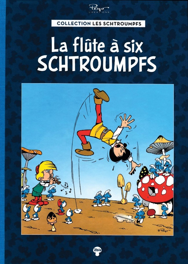 Couverture de Les schtroumpfs - La collection (Hachette) -2Bis- La flûte à six schtroumpfs