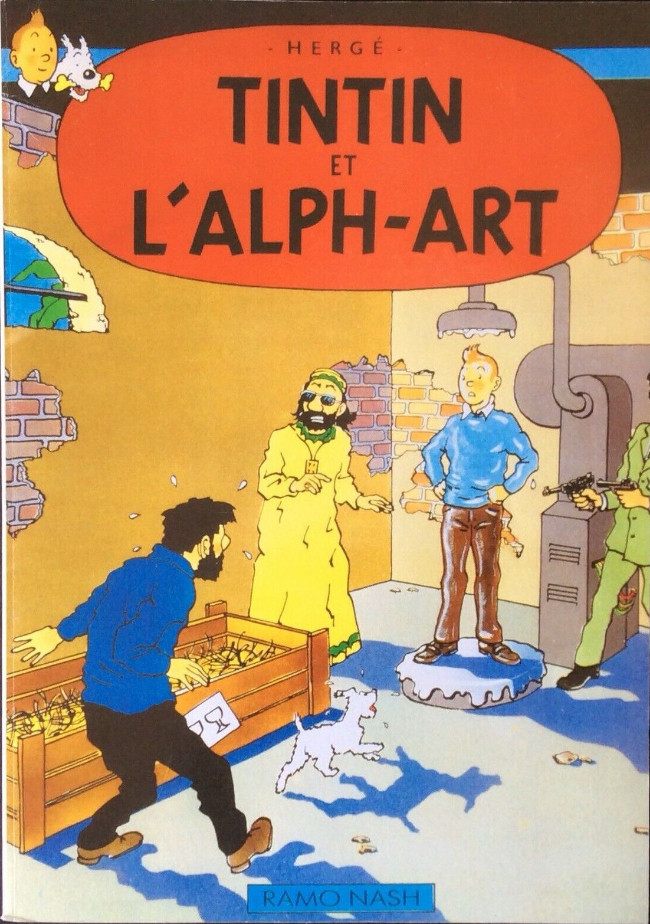 Couverture de Tintin - Pastiches, parodies & pirates -24- Tintin et l'Alph-Art