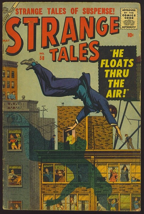 Couverture de Strange Tales (1951) -58- He Floats Thru the Air