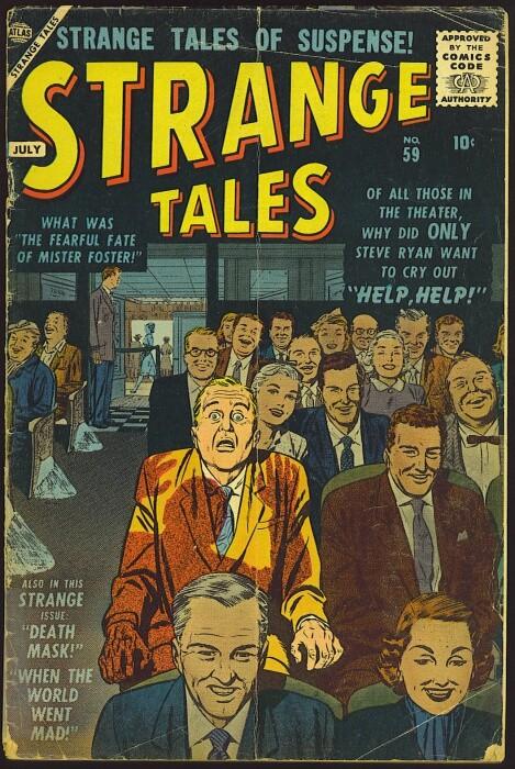 Couverture de Strange Tales (1951) -59- Help, Help!