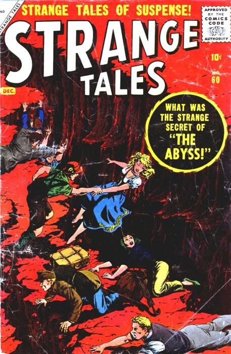 Couverture de Strange Tales (1951) -60- The Abyss!