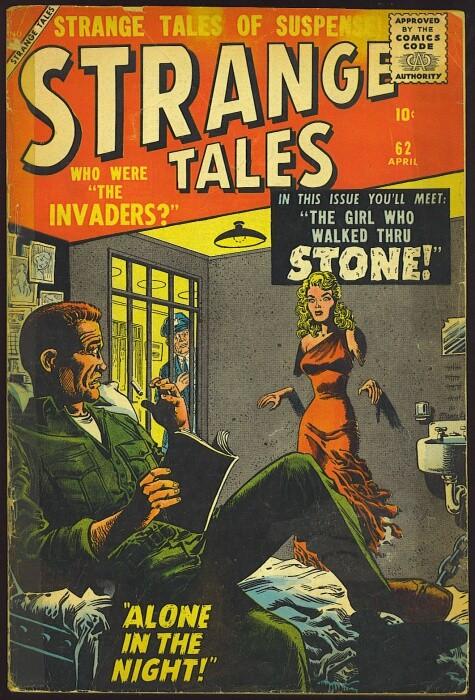 Couverture de Strange Tales (Marvel - 1951) -62- The Girl Who Walked Thru Stone!