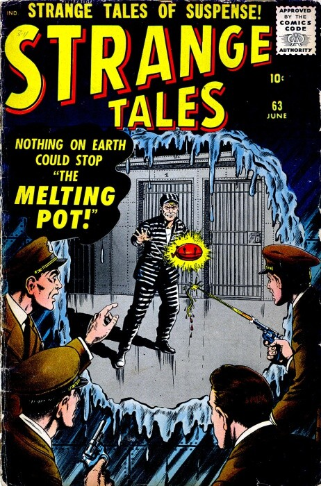Couverture de Strange Tales (Marvel - 1951) -63- The Melting Pot