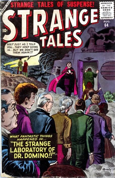 Couverture de Strange Tales (Marvel - 1951) -64- The Strange Laboratory of Dr. Domino