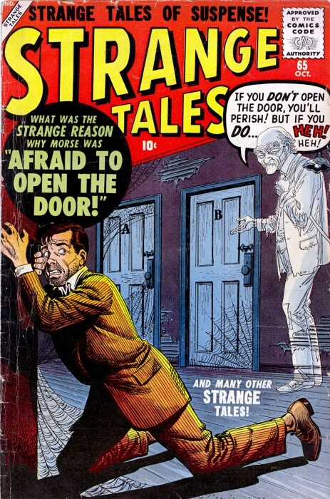 Couverture de Strange Tales (1951) -65- Afraid To Open the Door!