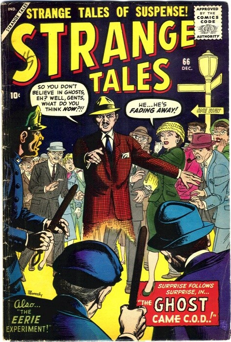 Couverture de Strange Tales (Marvel - 1951) -66- The Ghost Came C.O.D.