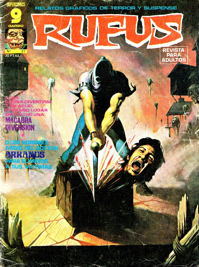 Couverture de Rufus (Eerie en espagnol) -27- Macabra diversión