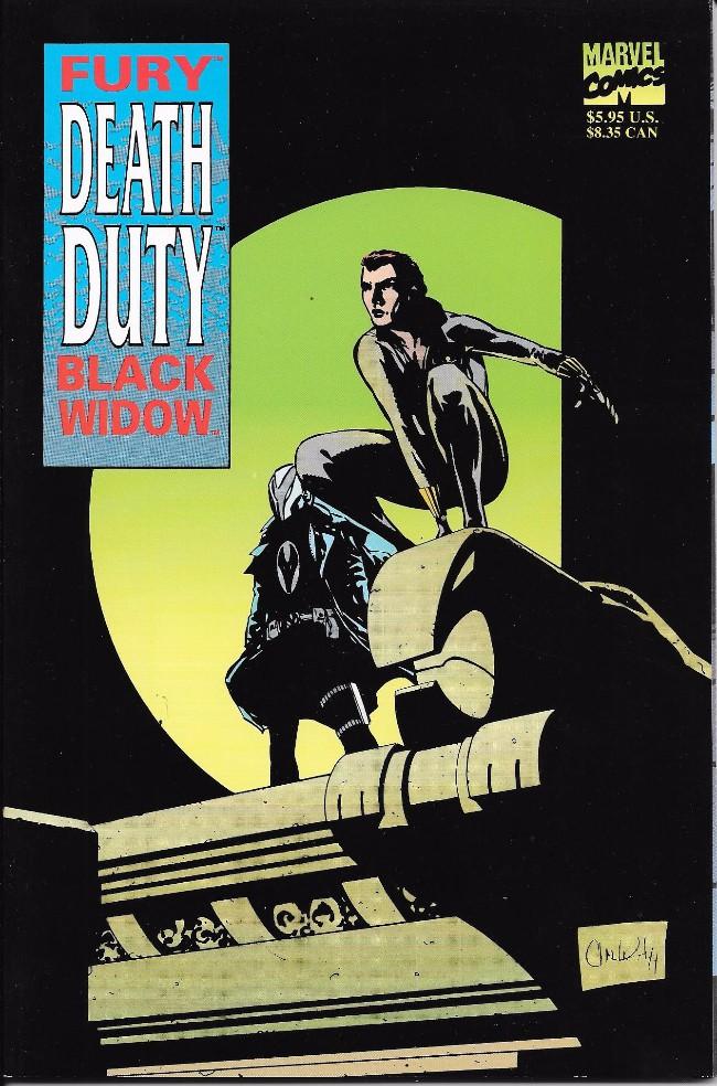Couverture de Fury/Black Widow: Death Duty (1995) - Fury/Black Widow: Death Duty