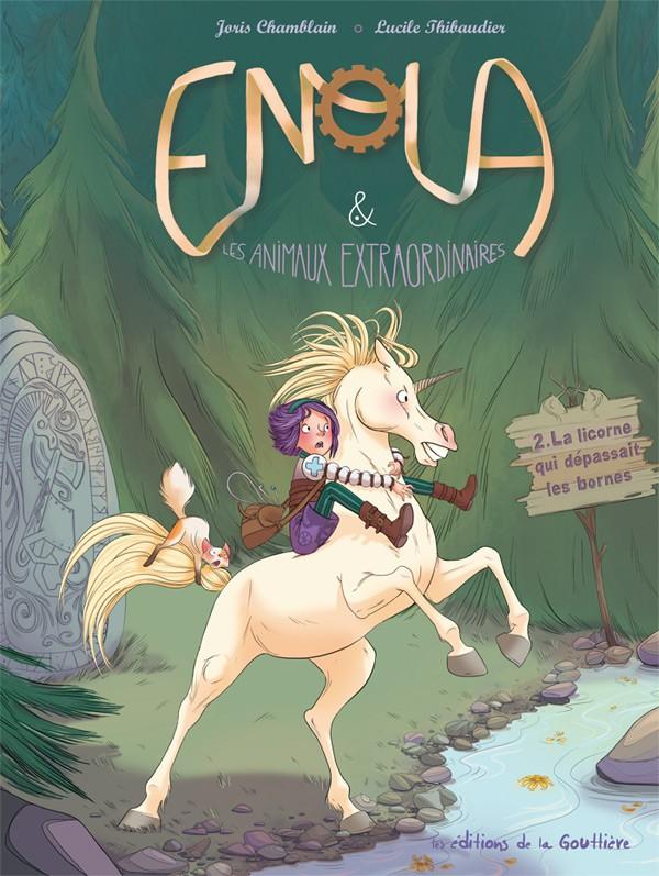 Couverture de Enola & les animaux extraordinaires -2- La licorne qui dépassait les bornes