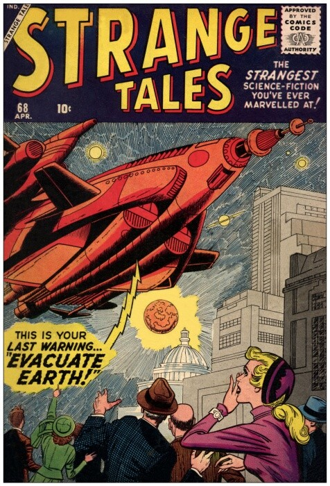 Couverture de Strange Tales (1951) -68- Last Warning: Evacuate Earth!