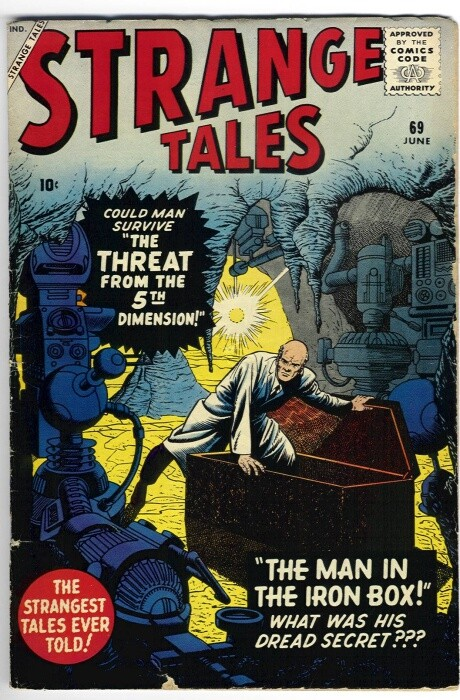 Couverture de Strange Tales (1951) -69- The Man in the Iron Box!