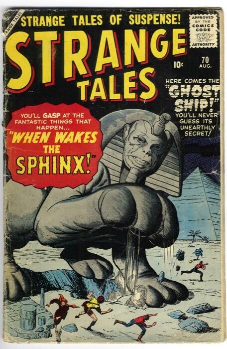 Couverture de Strange Tales (Marvel - 1951) -70- When Wakes the Sphinx!
