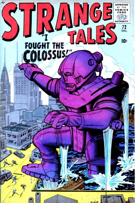 Couverture de Strange Tales (Marvel - 1951) -72- I Fought the Colossus!