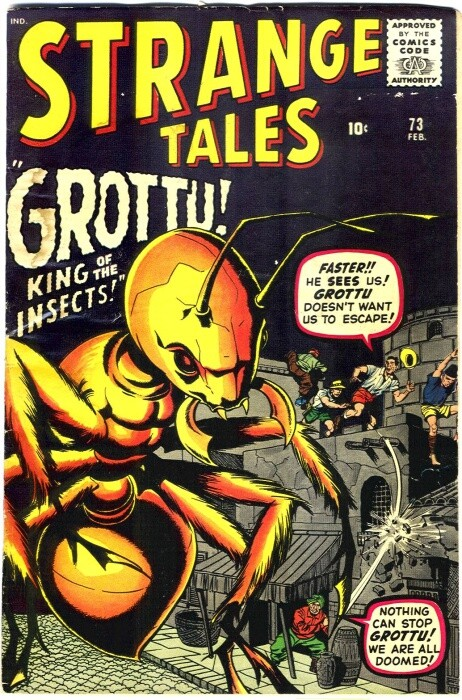 Couverture de Strange Tales (1951) -73- Grottu! King of the Insects!