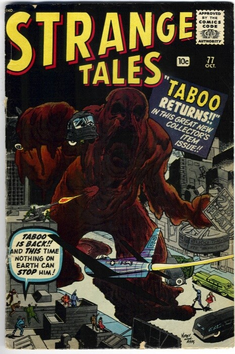 Couverture de Strange Tales (Marvel - 1951) -77- Taboo returns!!