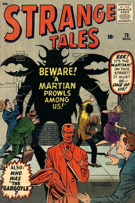 Couverture de Strange Tales (1951) -78- Beware! A Martian Prowls Among Us!